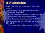 vsep submissions