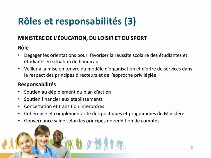Rôles et responsabilités (3)