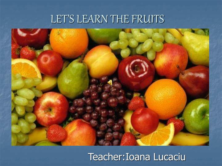 let s learn the fruit s n.