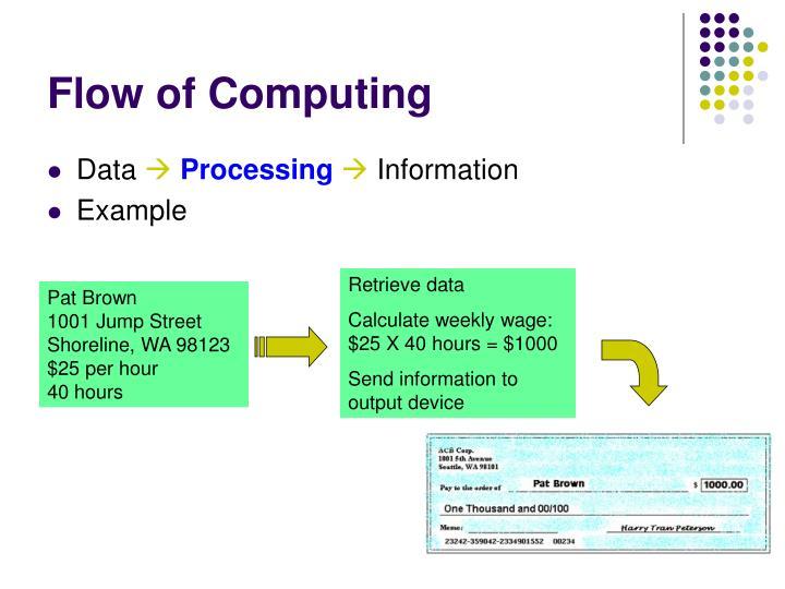 Flow of Computing