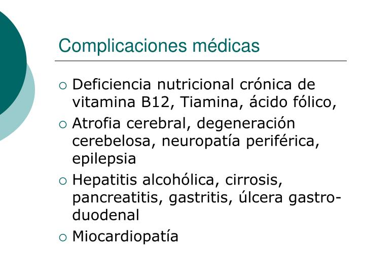 Complicaciones médicas