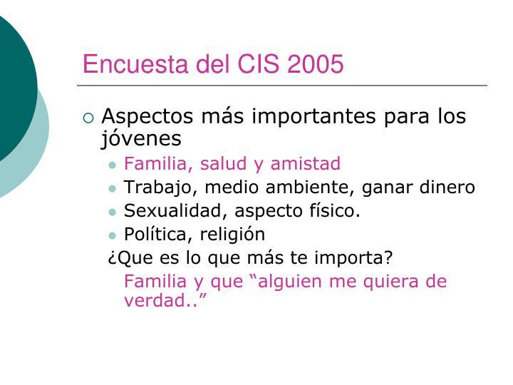 Encuesta del CIS 2005
