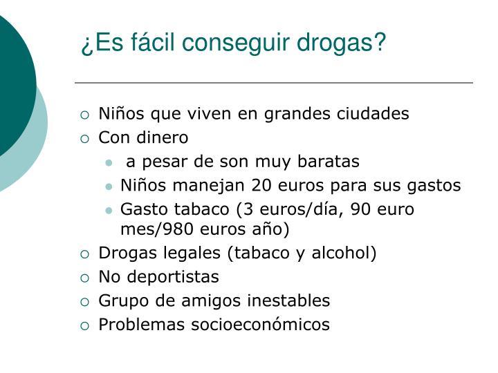 ¿Es fácil conseguir drogas?