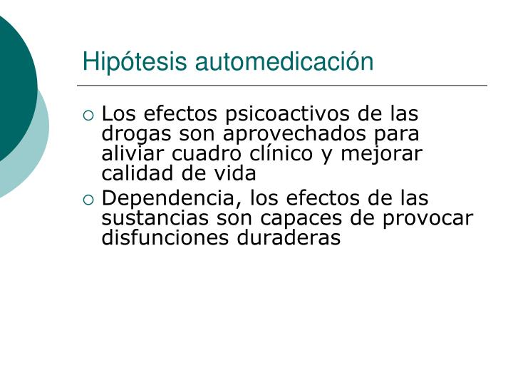 Hipótesis automedicación