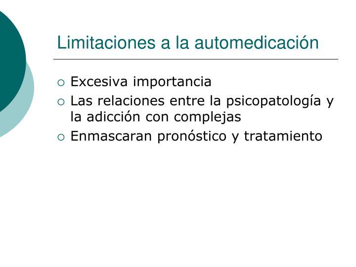 Limitaciones a la automedicación