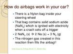 how do airbags work in your car