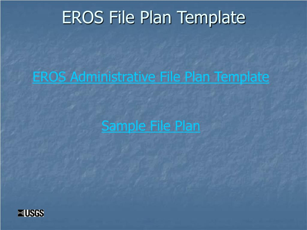 EROS File Plan Template