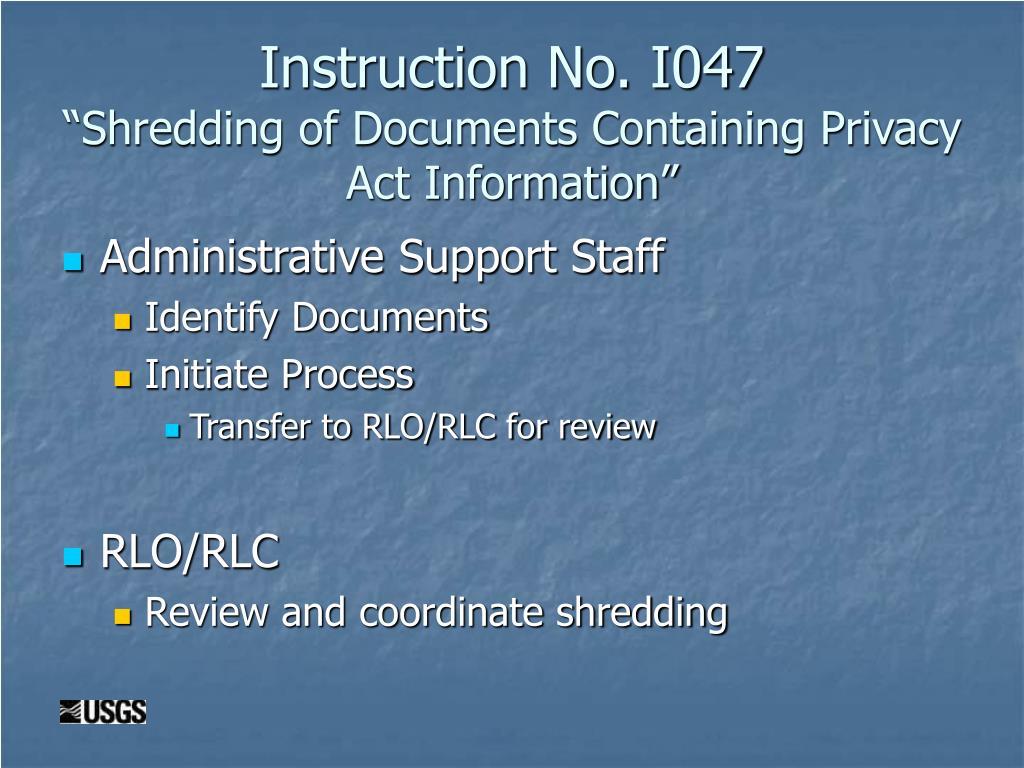Instruction No. I047