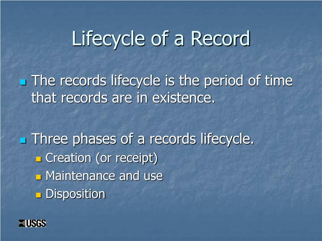 Lifecycle of a Record