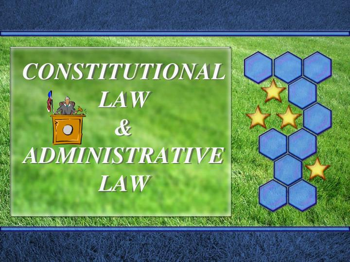 constitutional law administrative law n.