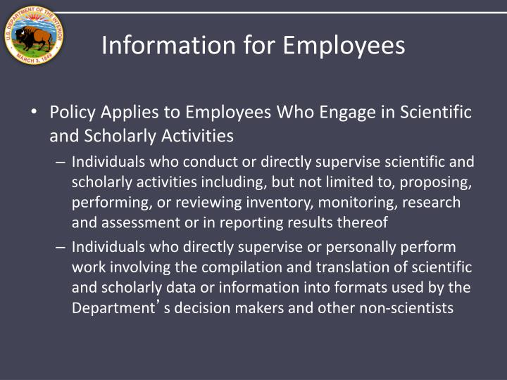 Information for Employees