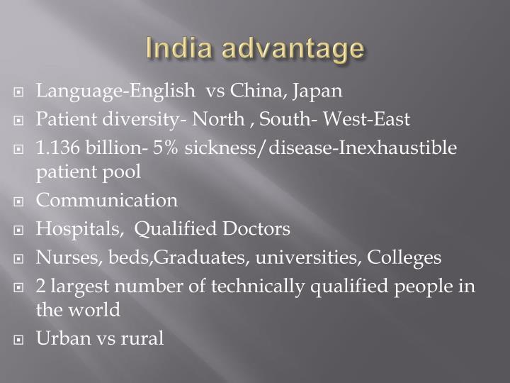 India advantage