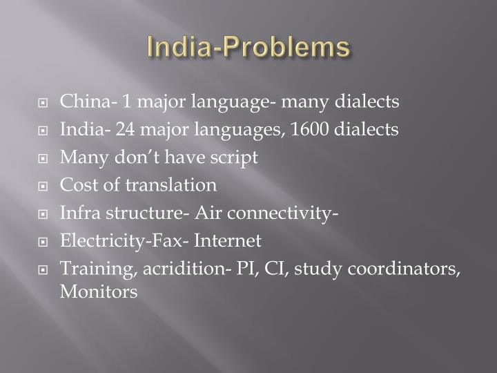 India-Problems