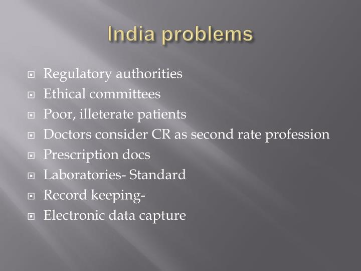 India problems
