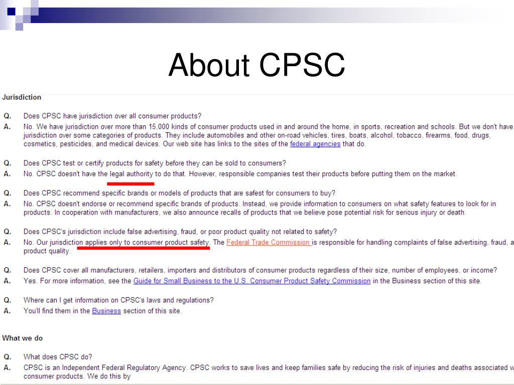 About CPSC