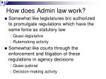 how does admin law work