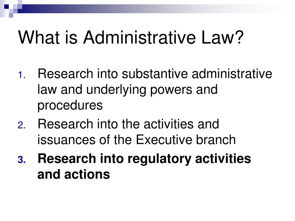What is Administrative Law?