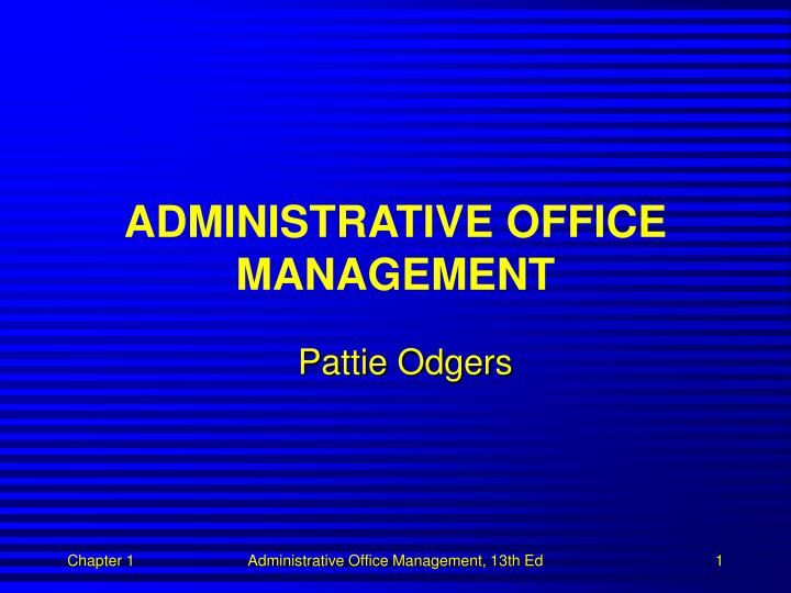 administrative office management n.
