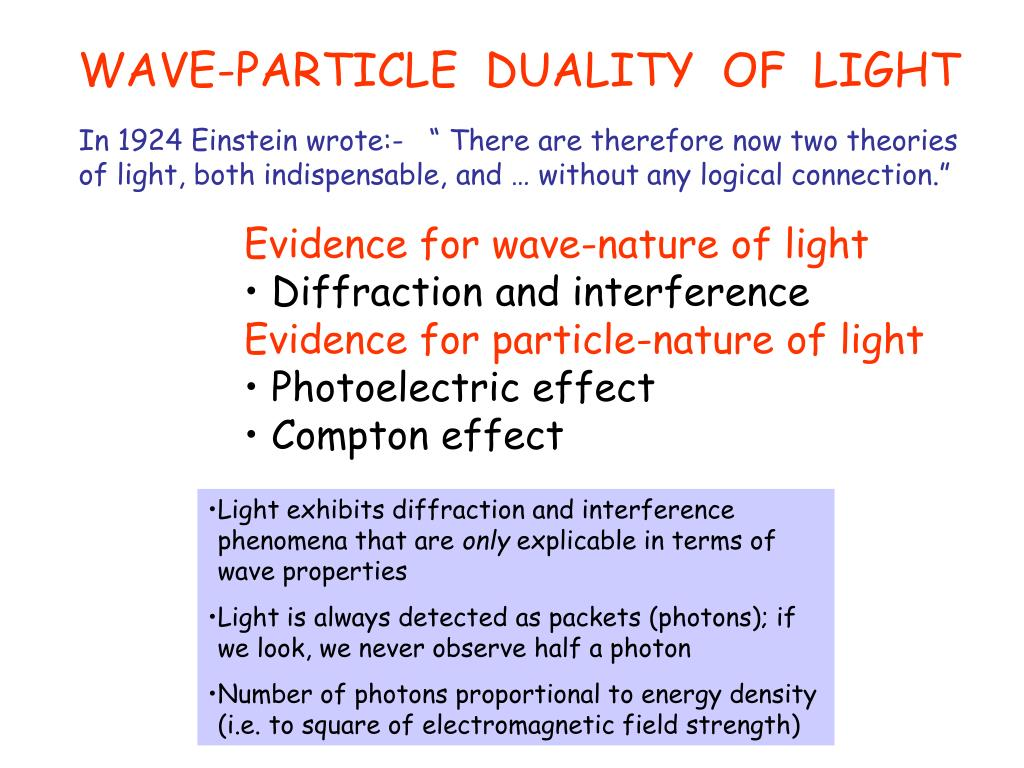 PPT - WAVE PARTICLE DUALITY PowerPoint Presentation - ID:1452662