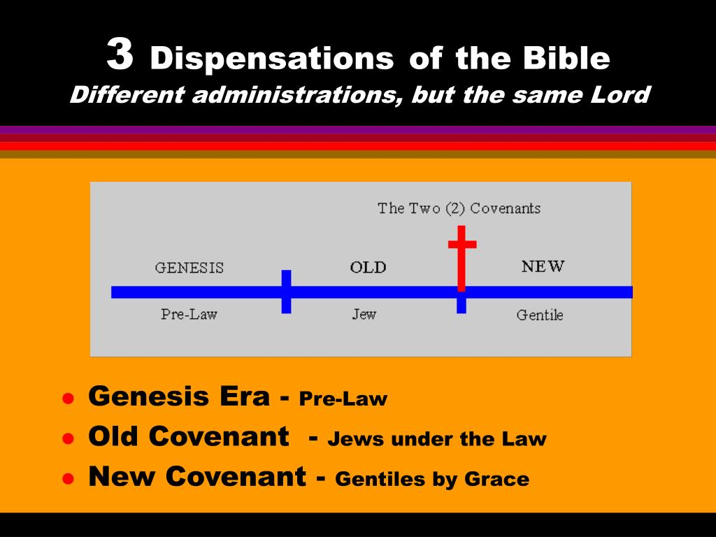 3 dispensations of the bible different administrations but the same lord l.