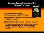 leaven yeast causes the bread to rise