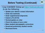 before testing continued28