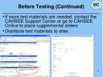 before testing continued42