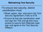 maintaining test security17