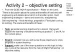 activity 2 objective setting