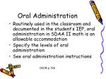 oral administration