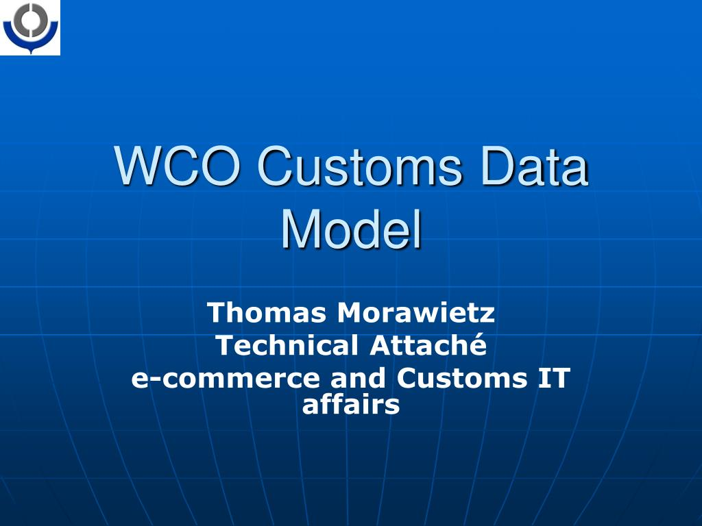 wco customs data model l.