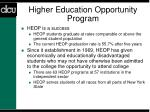 higher education opportunity program