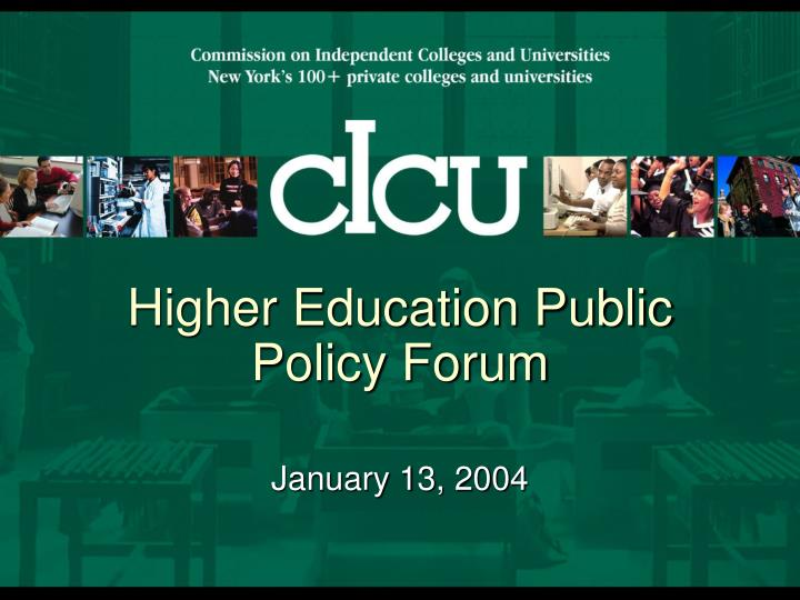 higher education public policy forum n.