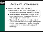 learn more www cicu org