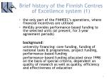 brief history of the finnish centres of excellence system 1