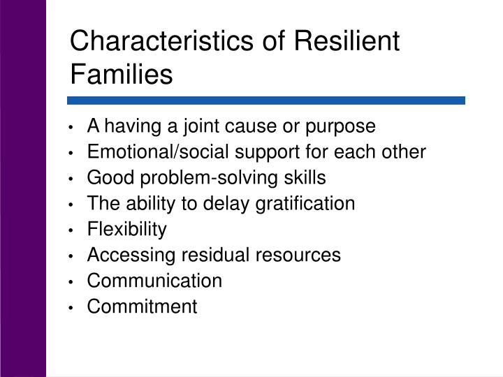 Characteristics of Resilient Families