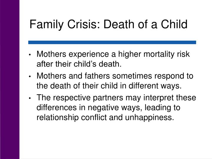 Family Crisis: Death of a Child