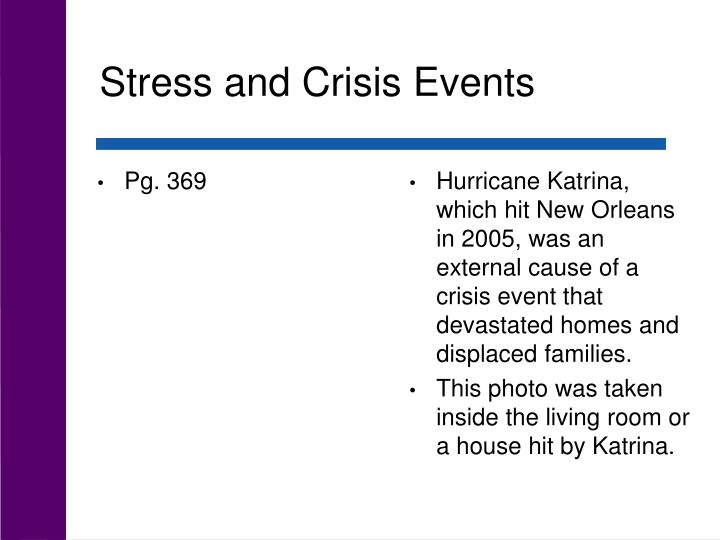 Stress and Crisis Events