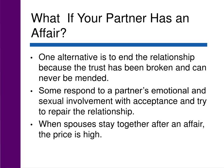 What  If Your Partner Has an Affair?