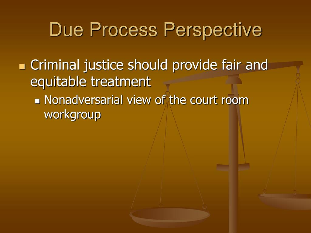 Due Process Perspective