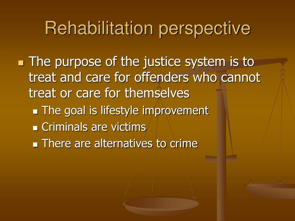 Rehabilitation perspective