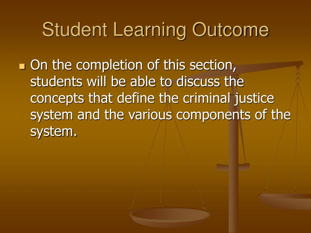 Student Learning Outcome