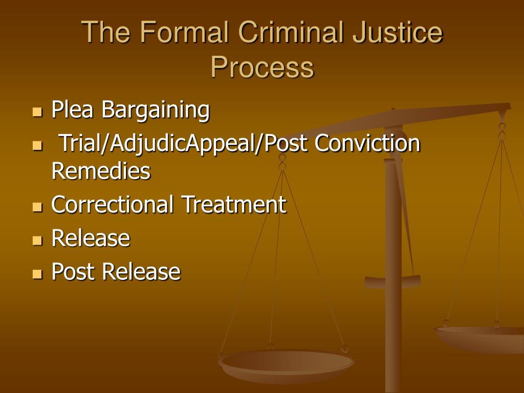 The Formal Criminal Justice Process