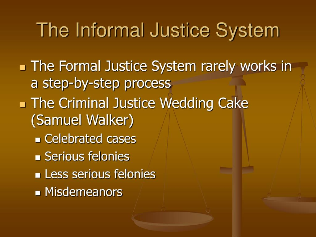 The Informal Justice System