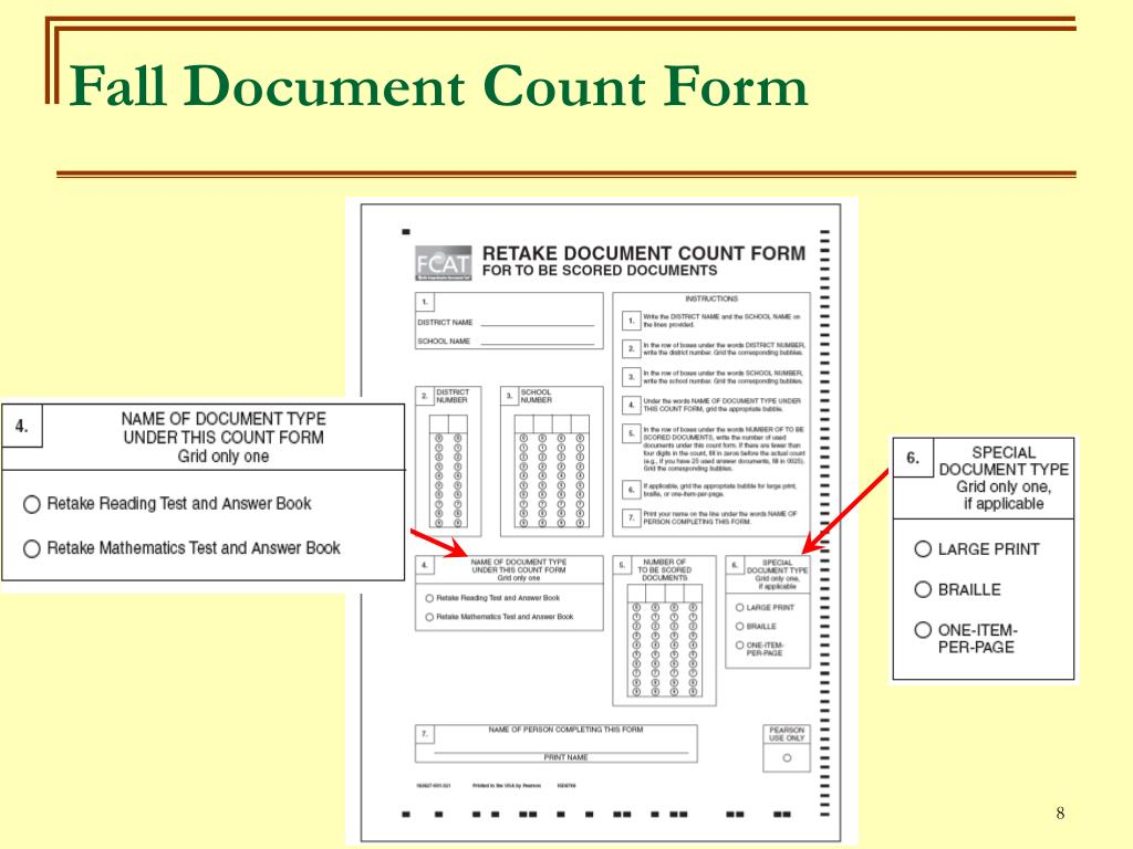 Fall Document Count Form