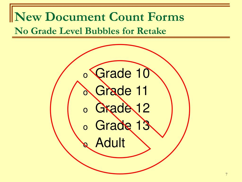 New Document Count Forms