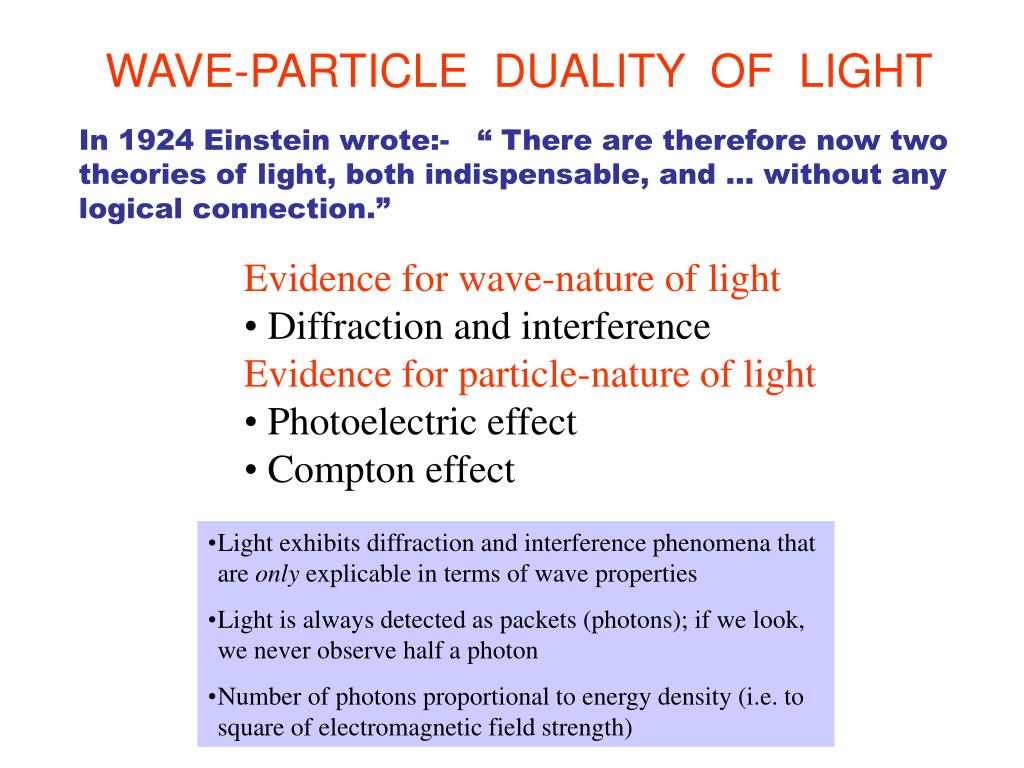 PPT - WAVE PARTICLE DUALITY PowerPoint Presentation - ID:1452999