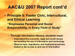 aac u 2007 report cont d