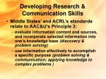 developing research communication skills