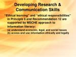 developing research communication skills16